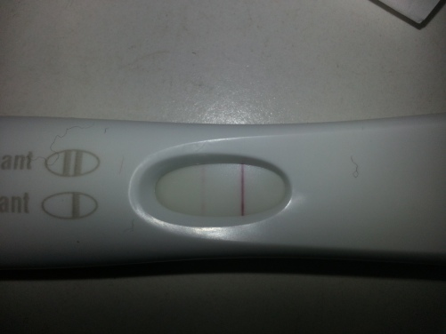 First positive pregnancy test